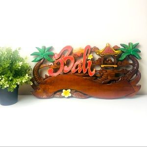 Bali Wooden Decorative Sign